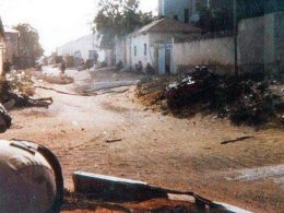 The only photo was taken during the 1st Battle of Mogadishu (the Black Hawk Down incident) on October 3, 1993, in Somalia