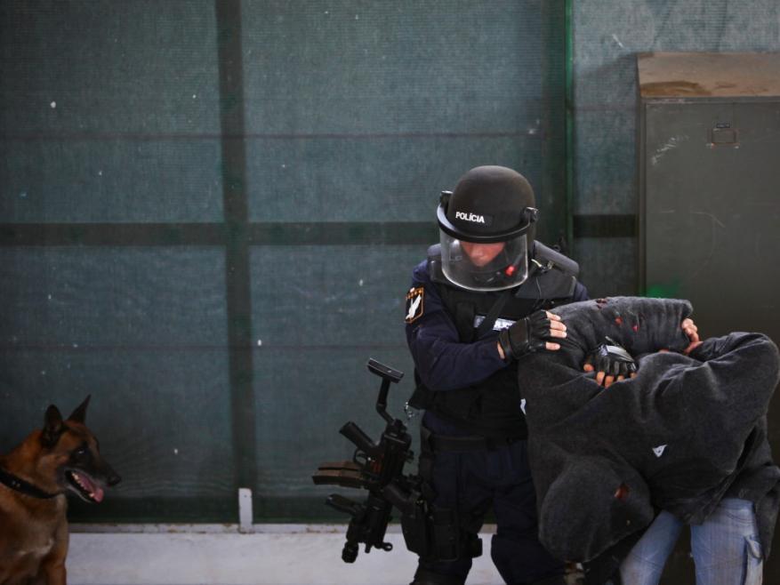 Grupo de Operações Especiais members during the counter-terrorism training exercise