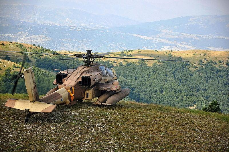 Israeli Air Force AH 64D during an exercise with the Hellenic Air Force in 2011 - Boeing AH-64 Apache