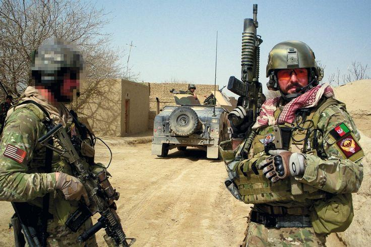 US Army Special Forces Group and ANA Commando operators during Operation Enduring Freedom