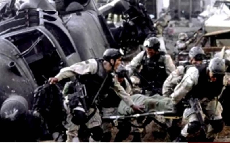 The scene from Black Hawk Down, describing events from Battle of Mogadishu in 1993
