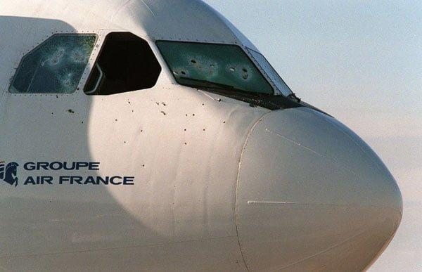 Air France Flight 8969 hijacking: The aftermath of extensive shooting during the standoff with the terrorists barricaded in the cockpit (Photo: CCTV)
