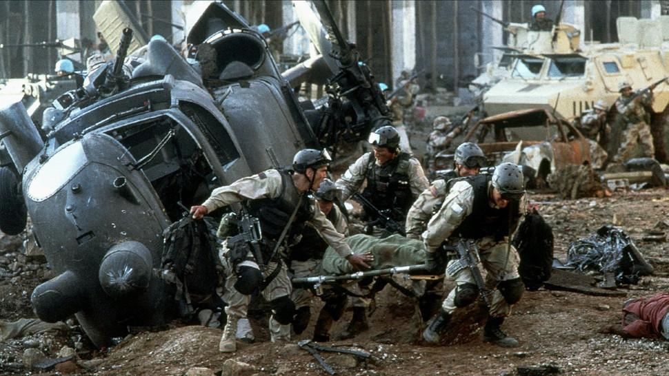 A Super 61 crash site portrayed in the movie 'Black Hawk Down'