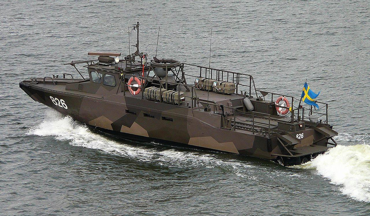 Stridsbåt 90 H (Combat Boat 90 Half - CB90H) is a class of fast military assault craft originally developed for the Swedish Navy by Dockstavarvet