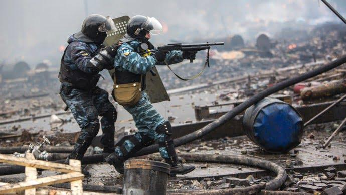 Ukrainian BERKUT on Maidan, Kiev
