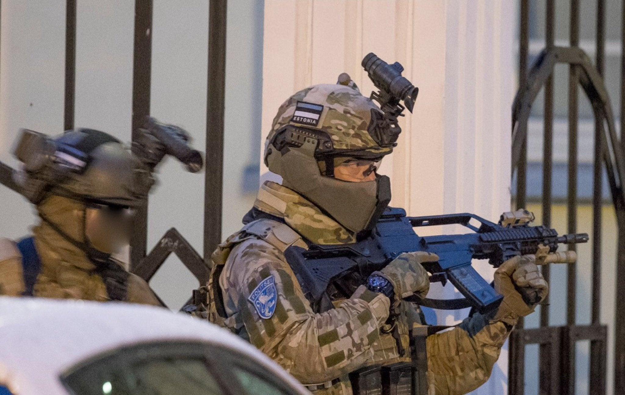Estonian K-Commando operators during the tactical exercise ATHOS 2016