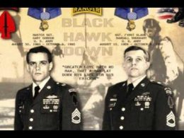 Gary Gordon and Randy Shughart, two Delta Force snipers who have been awarded Medal of Honor for his actions during the 1st Battle of Mogadishu in Somalia on October 3, 1993