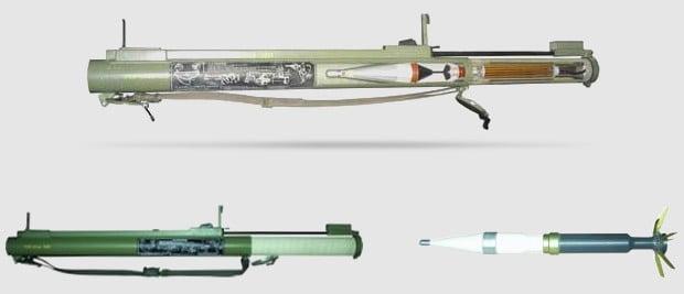 The M-80 Zolja rocket launcher manufactured in former Yugoslavia