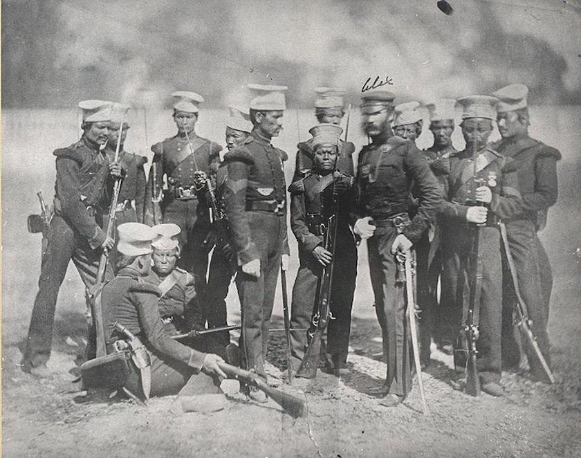 The Nusseree Battalion, later known as the 1st Gurkha Rifles, in 1857