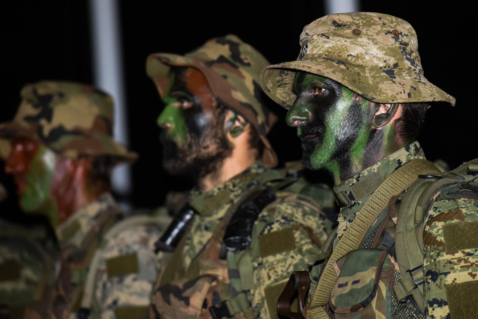 Soldiers from Croatian Armed Forces during Commando selection course for the Special Operations Battalion