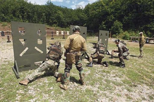 Special Operations Battalion operators during the training at the shooting range