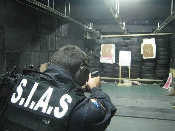 SIAS operators at the shooting range