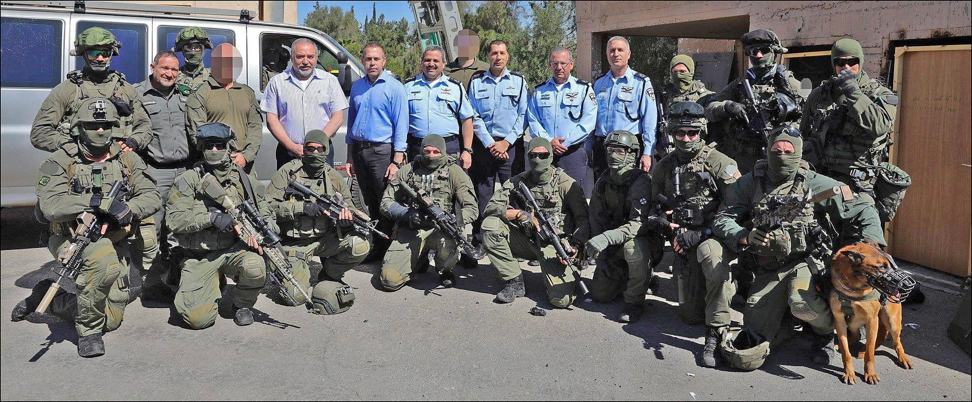 YAMAM operators during the visit of Israeli officials in 2017