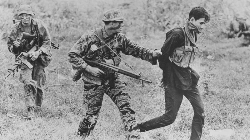 Roy Boehm: ST-2 members extracting with VietCong prisoner
