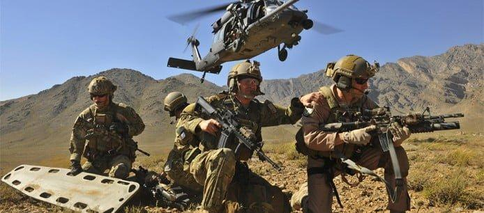 USAF Pararescue Jumbers (PJs) deploying