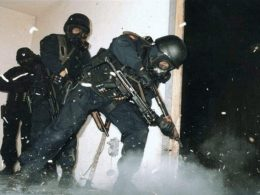 British Special Air Service (SAS) operators training in the late 1980s