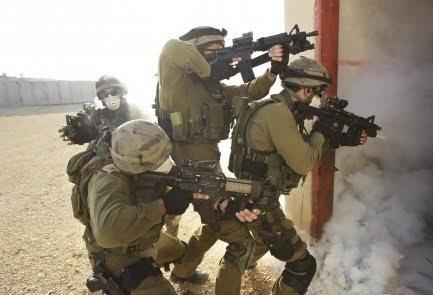 Operators from the IDF's Tier 1 unit Sayeret Matkal during the training