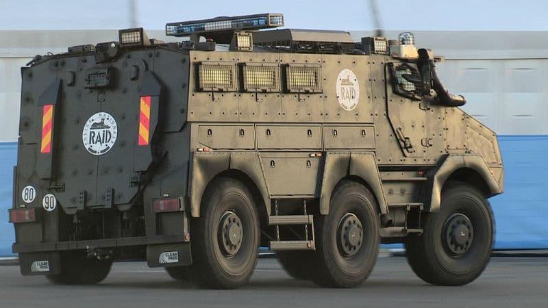 APC vehicle used by RAID