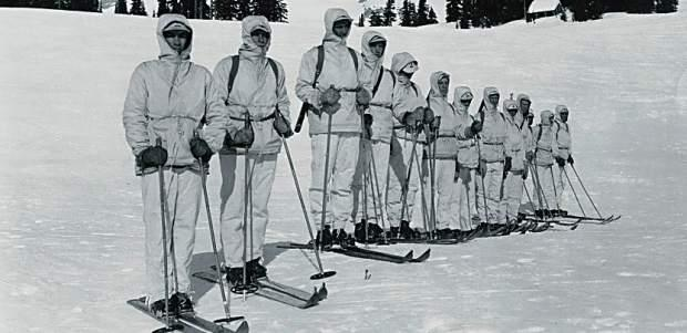 10th Mountain Division during the winter drills (history)