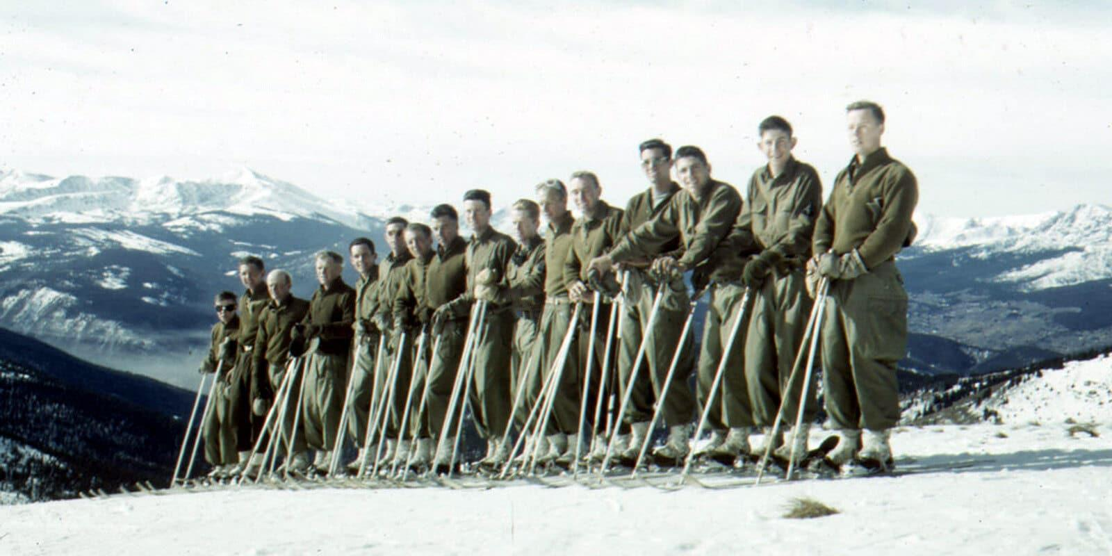 10th Mountain Division - Climb to Glory: 10th Mountain Division troops during their winter training in Colorado