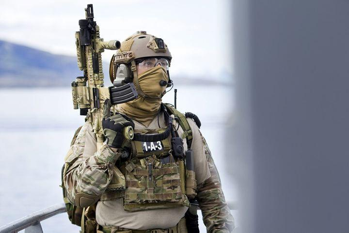 Member of the Norway's Marine Jager unit - Finmark 7th Jager Company