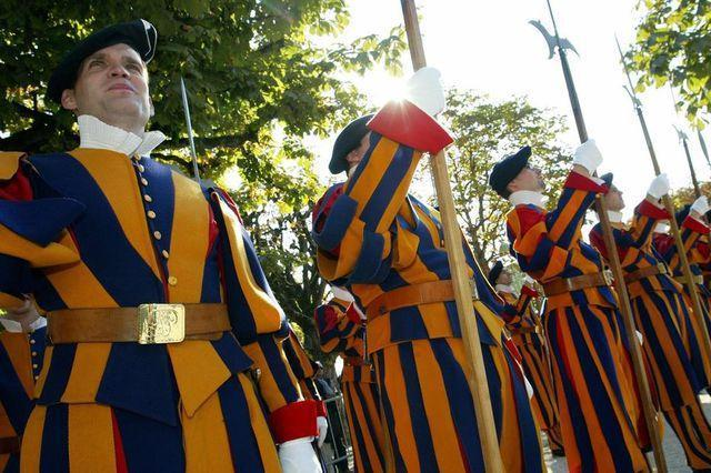The primary mission of the Swiss Guard is the safety of thePope, including the security of theApostolic Palace.