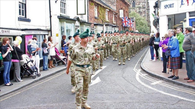 Soldiers of Royal Irish Regiment