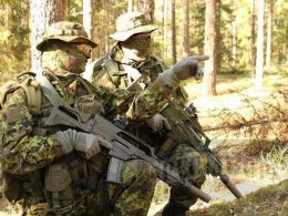 Estonian Special Operations Forces ESTSOF operators during the small-unit tactics drill