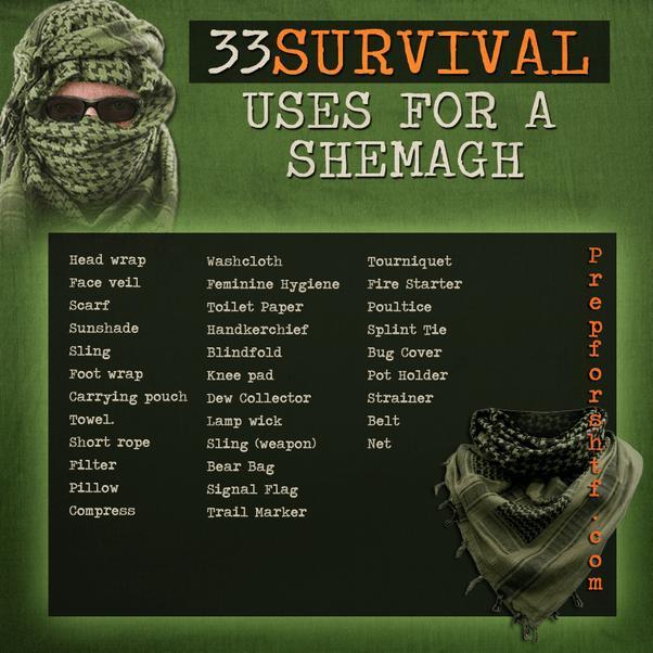 Go Bag Shemag Survival Tips