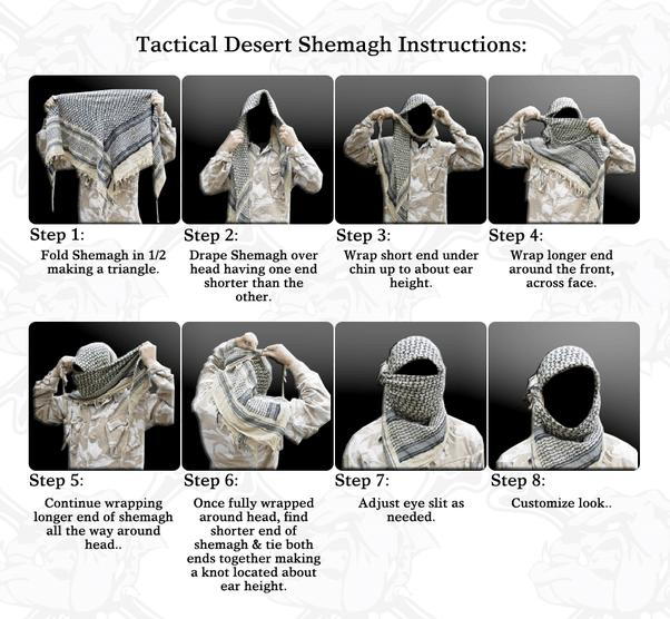 Go Bag: Tactical Shemagh Instructions for tactical operators