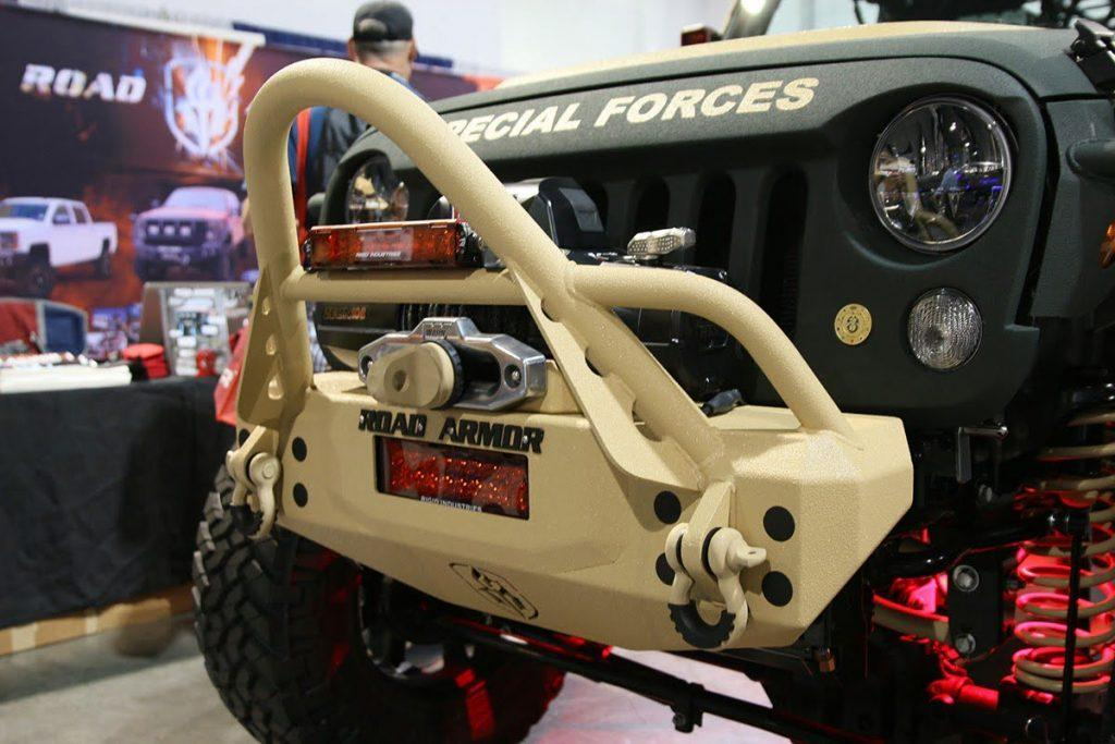 Special Forces Road Armor JK Jeep Wrangler at SEMA