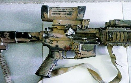 SASR in Afghan ambush: Sergeant Troy Simmonds' damaged weapon - shot in the ejection port.