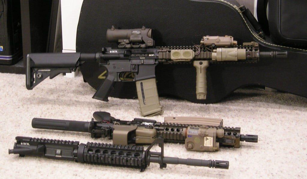 An M4A1 rifle with upgraded SOPMOD Block II kit