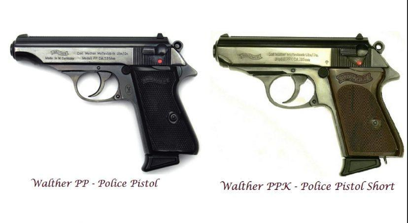 Walther PP and PPK are blowback, double-action, semi automatic pistols