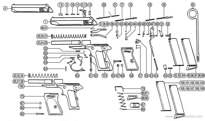 Walther PPK Diagram