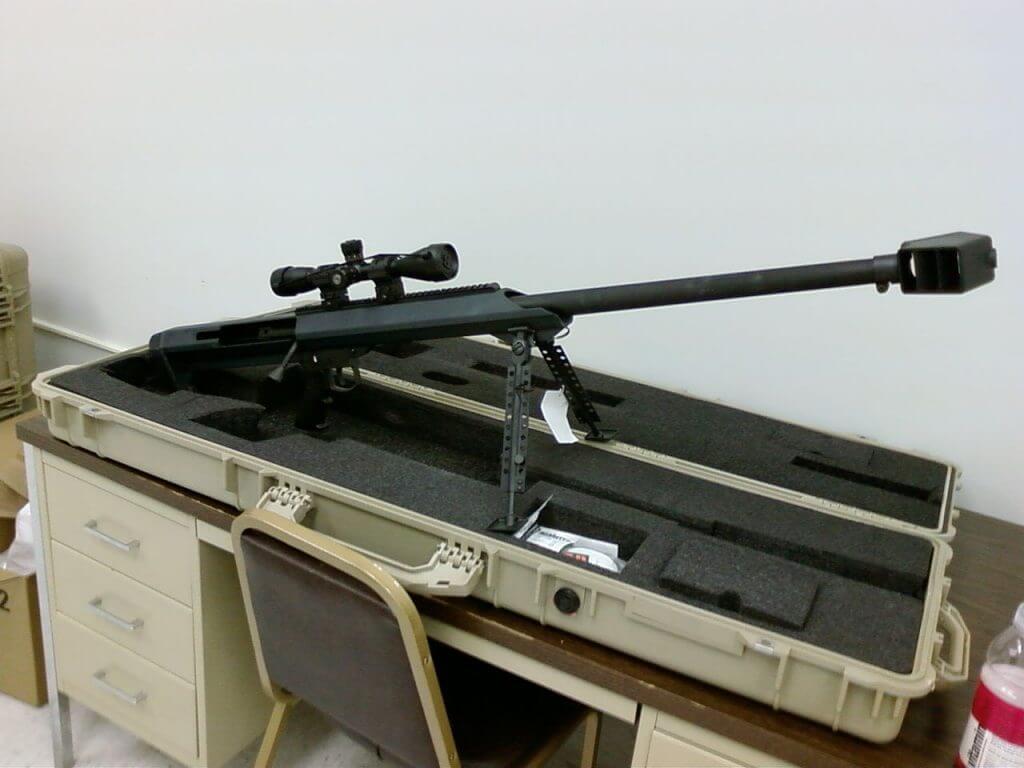 Barrett M99 sniper rifle chambered in .50 cal