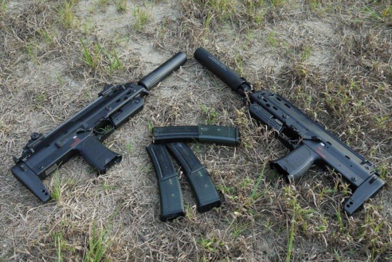 Heckler & Koch MP7-A1 submachine gun at shooting range