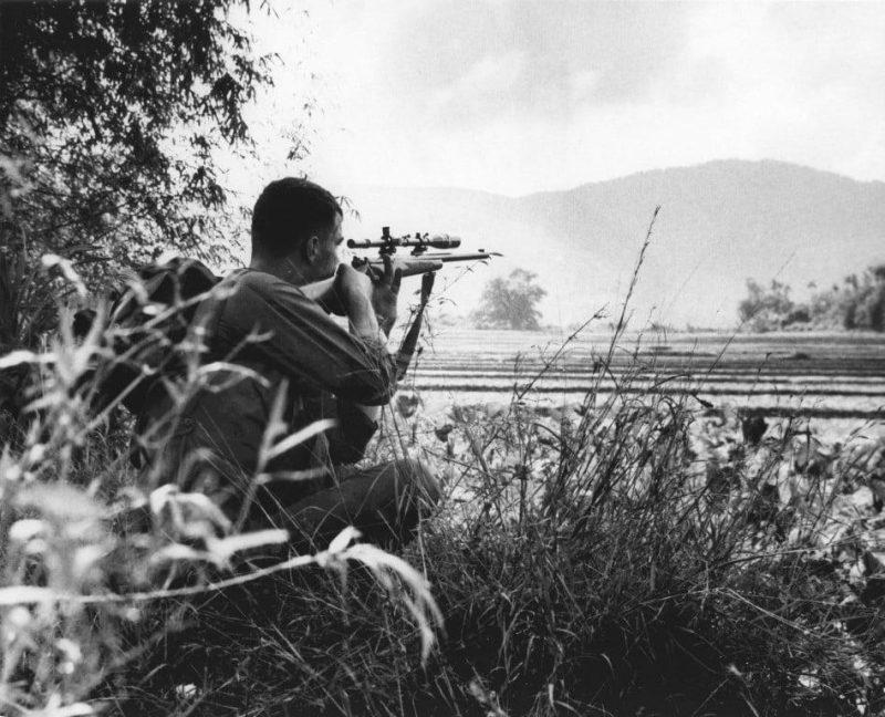 USMC sniper in Vietnam war