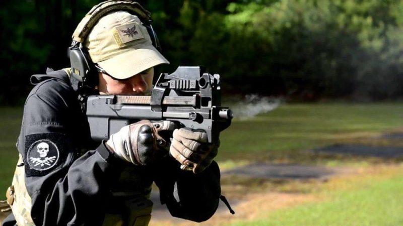 Submachine gun FN P90 chambered in 5.7 mm
