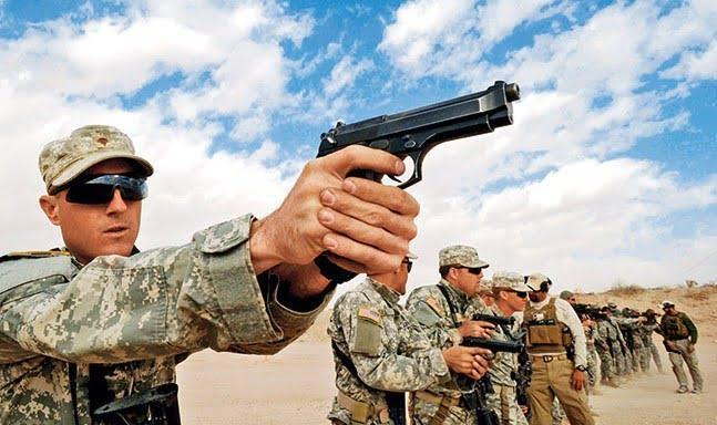 US Army Standard issue sidearm Beretta M9