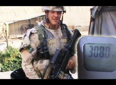 How much weight does a soldier carry on him in Afghanistan?