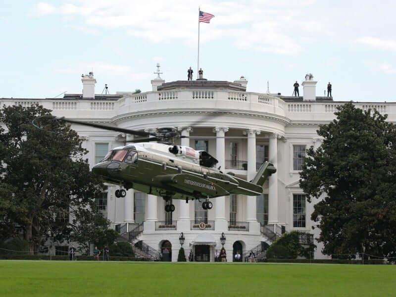 Marine One VH-92A helicopter made its first flight in July 2017.