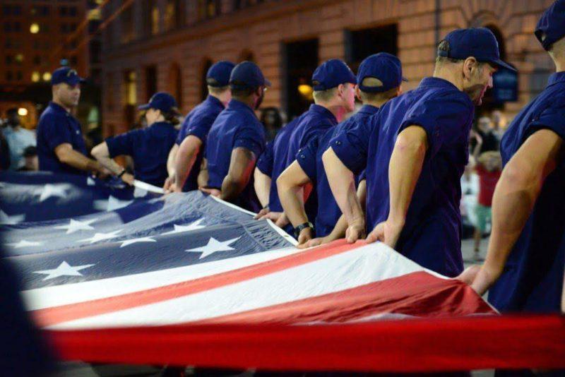 DOD coast guardmen and american flag OV1016 1024x684