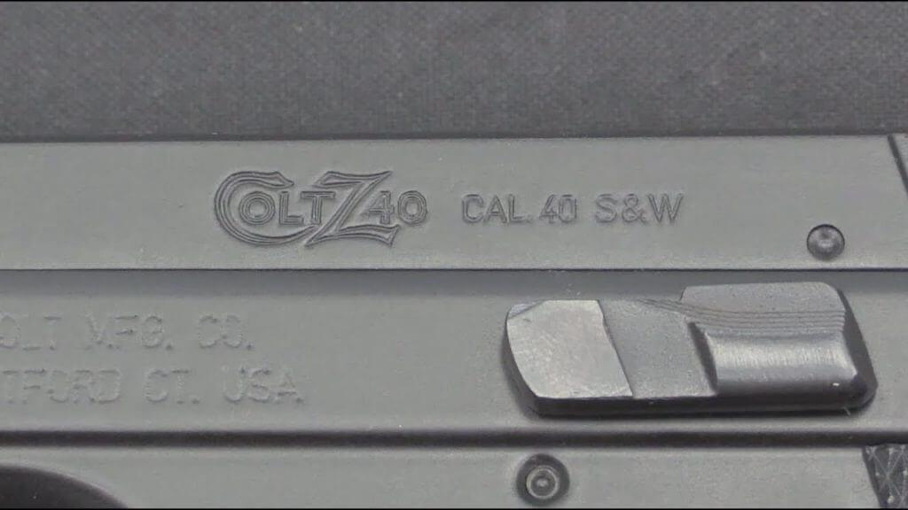 CZ-Colt Z40 pistol chambered in .40 S&W caliber