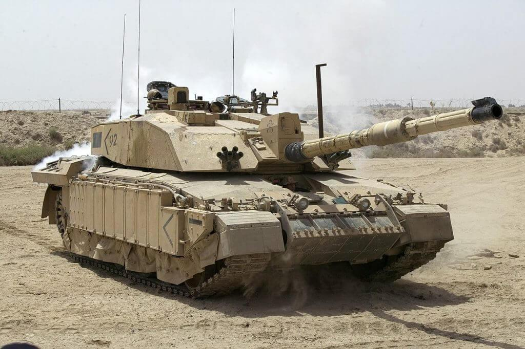 British Challenger 2 tank patrolling in Iraq