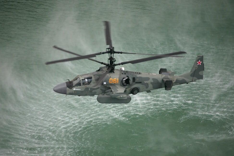 "Kamov Ka-52 ""Alligator"" during a training mission"