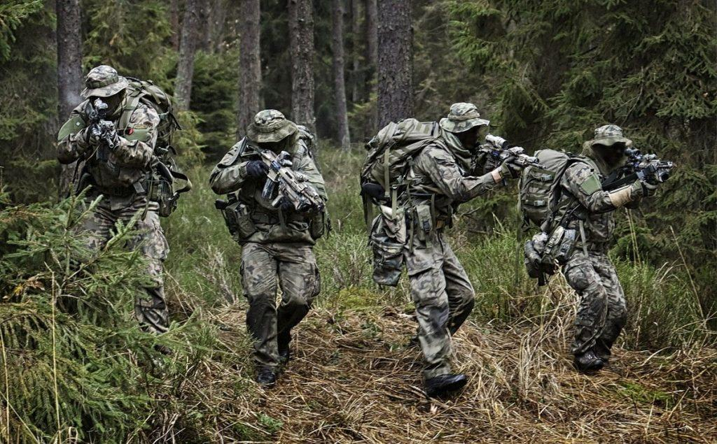 JWK operators in the woods - COMMANDO Special Forces Group