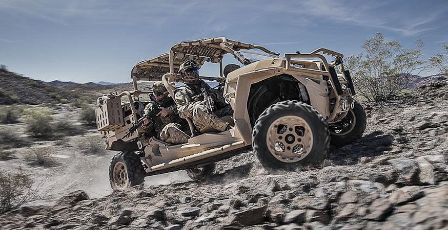 Polaris MRZR D4 ATV combat