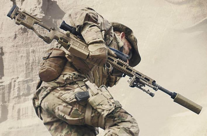 special forces operator armed with Sako TRG M10 Sniper Weapon System