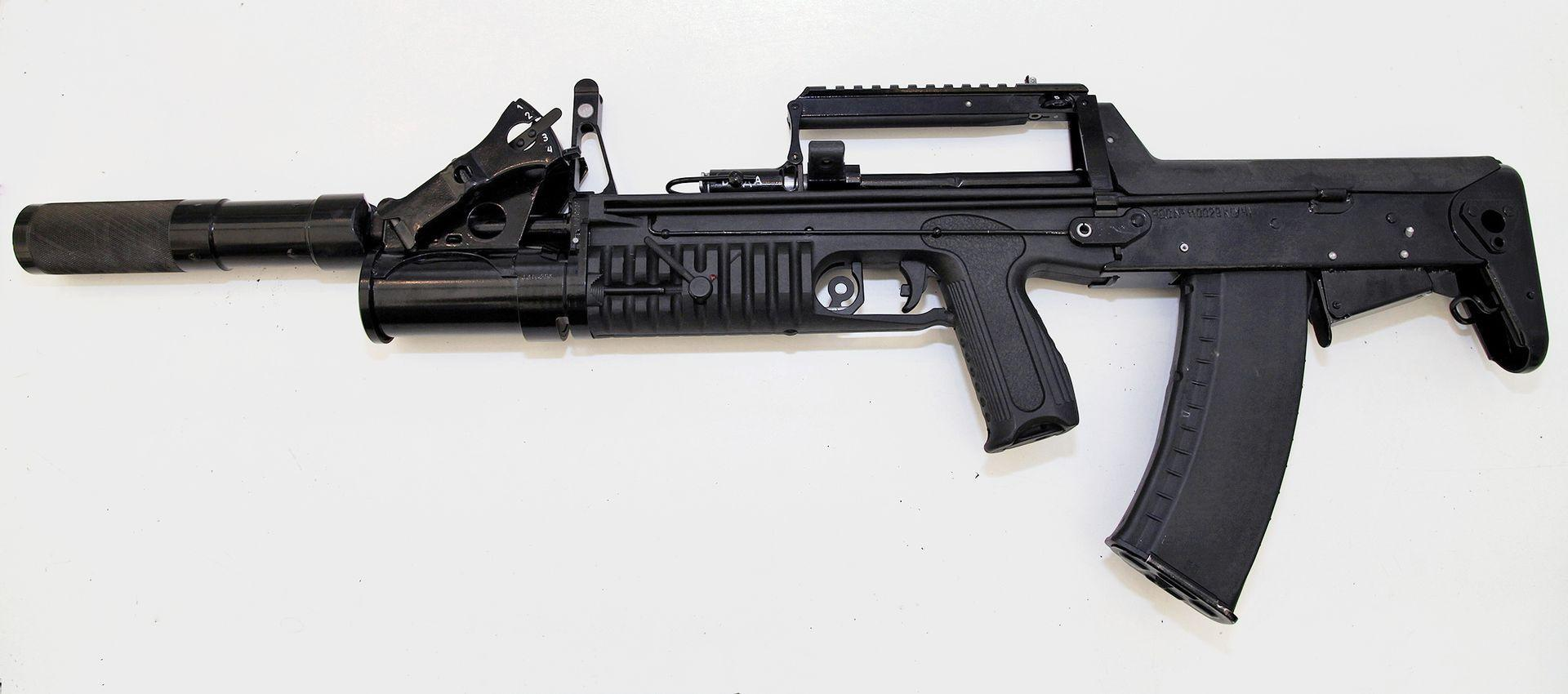ADS amphibious assault rifle chambered in 5.45 mm caliber